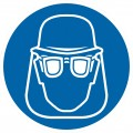 Jālieto aizsargķivere un sejas aizsardzības lidzekļi