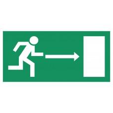 virziens uz evakuācijas izejām